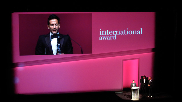 Marc Jacobs, winner of the International Award