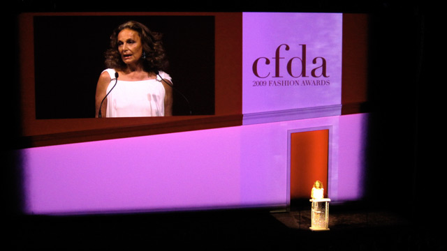 Diane von Furstenberg with remarks and thank yous