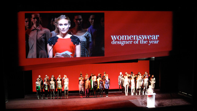 Diane Kruger, announcing the winner