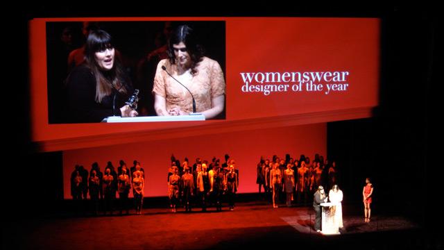 Womenswear winners, Kate and Laura Mulleavy of Rodarte