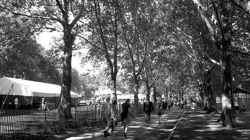 The boulevard adjacent to Colonels Row