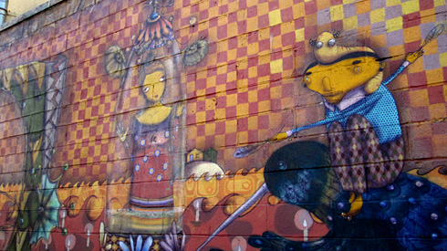 Coney Island mural, Os Gemeos