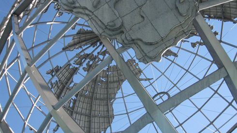 Unisphere fountain in Queens, NY