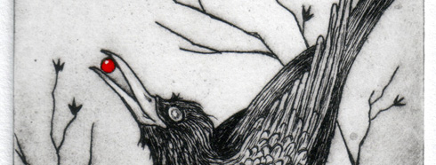 drypoint print detail
