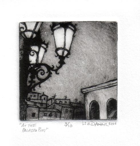 Palazzo Pitti drypoint print