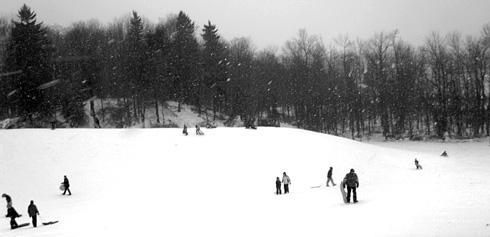 sledding Mendon Ponds Park
