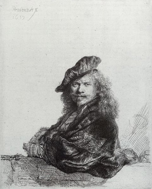 Self portrait by Rembrant