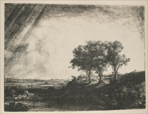 Three Trees by Rembrandt