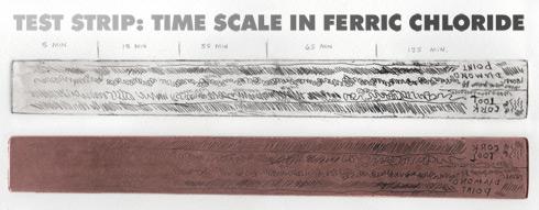 ferric chloride test strip