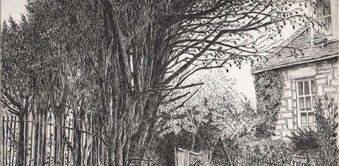 line etching and aquatint by E Daggar