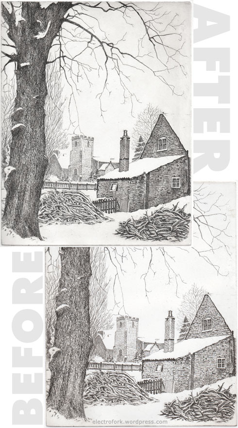 before and after aquatint