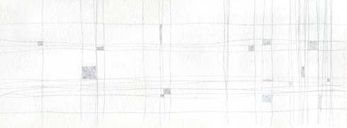 silverpoint test composition of squares