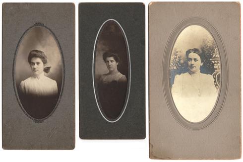 3 turn-of-last-century photographs