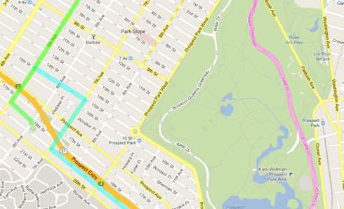 Our bike routes around the neighborhoods