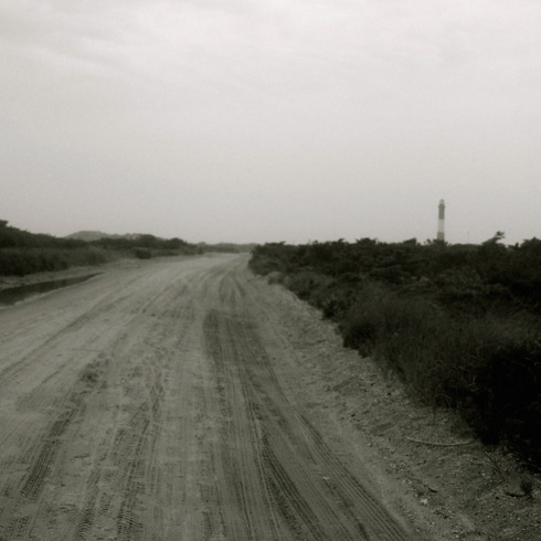Approach to the lighthouse on Fire Island
