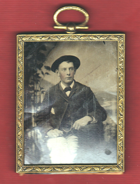 tintype in small gold frame