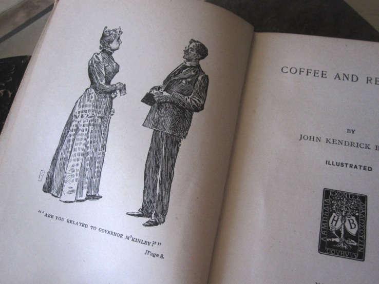 """Title page of the Harper's book, """"Coffee & Repartee"""""""