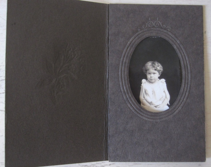 Tintype or Daguerrotype in a small embossed folder