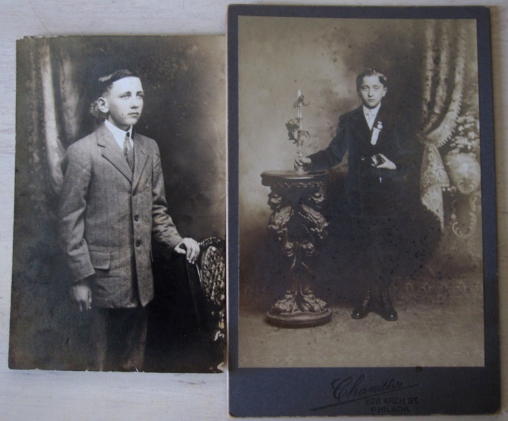 Two old photos of young men
