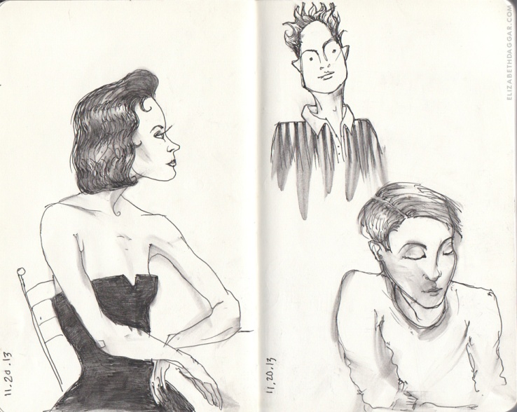 drawings: some random figments of people