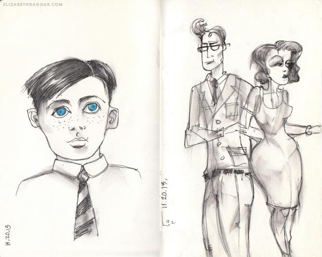 drawings: more random people