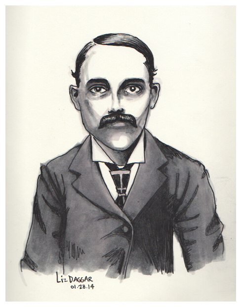 portrait- man with a mustache