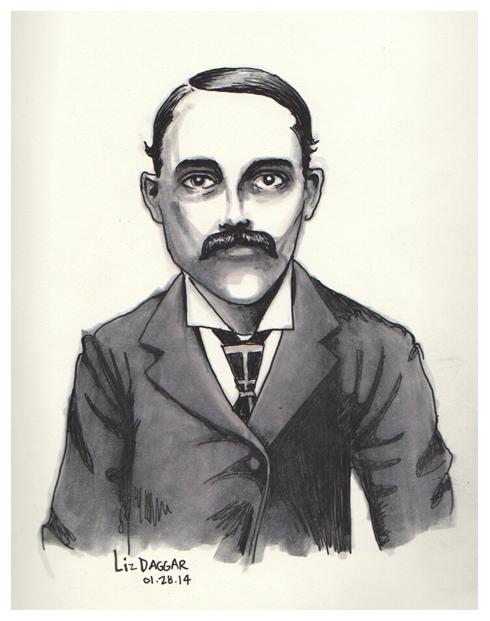 portrait- man with a mustache