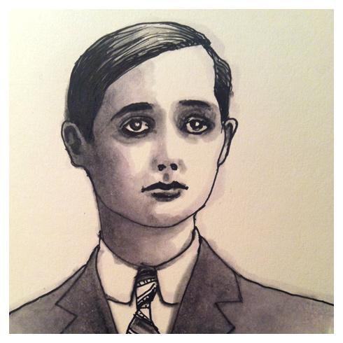 portrait study from an Edwardian era photo