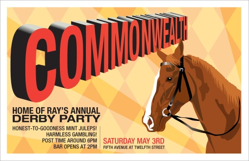 Commonwealth Kentucky Derby party- poster by Electrofork