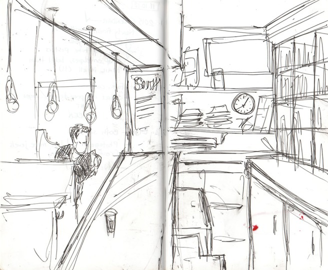A place, in a sketch, Brooklyn