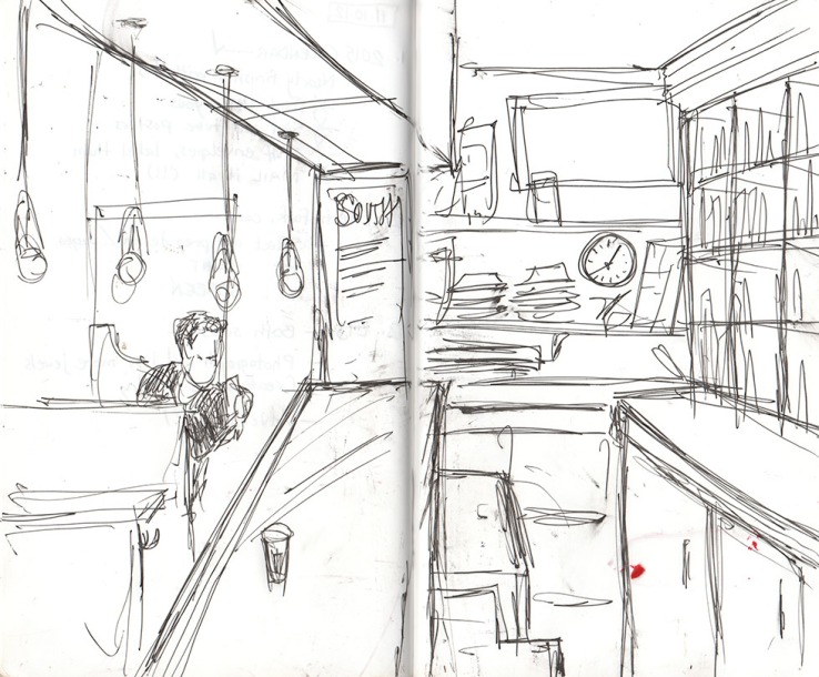 A place, in a sketch, Brooklyn