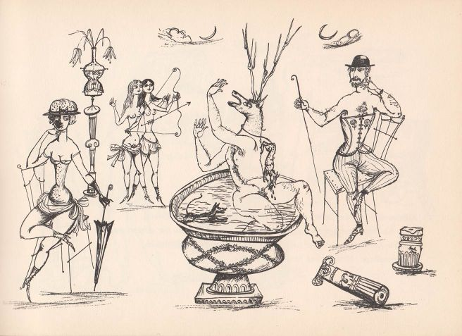 """Anbetung des Korsetts"" illustration"