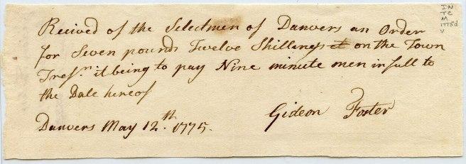 cursive handwriting, 1775