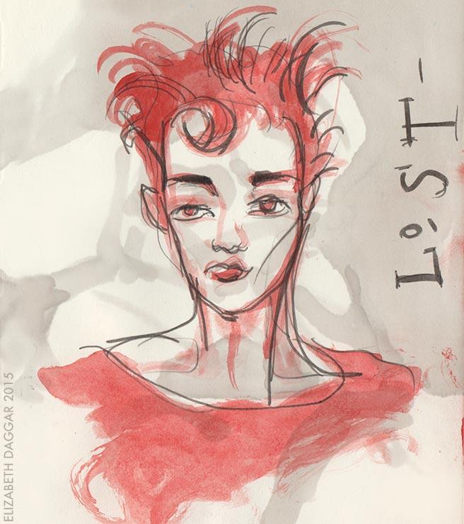 marker and casein sketch