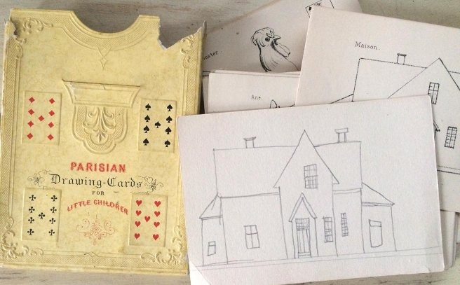 Parisian Drawing Cards