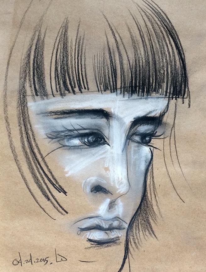 charcoal pencil sketch