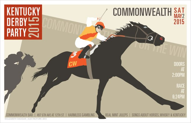 Derby party at Commonwealth Brooklyn- a poster