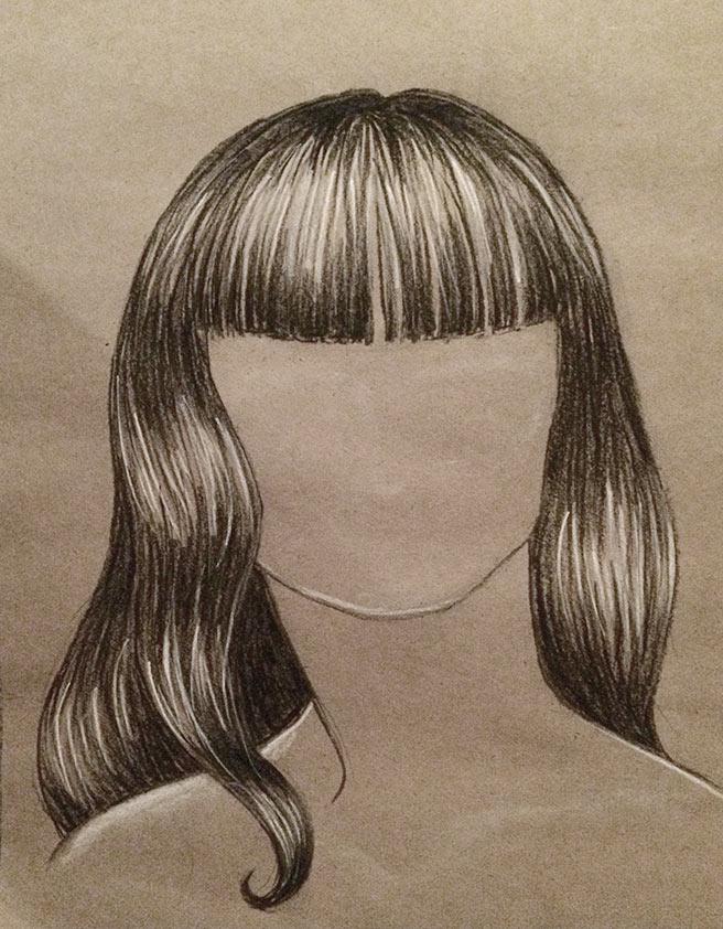 drawing of hair
