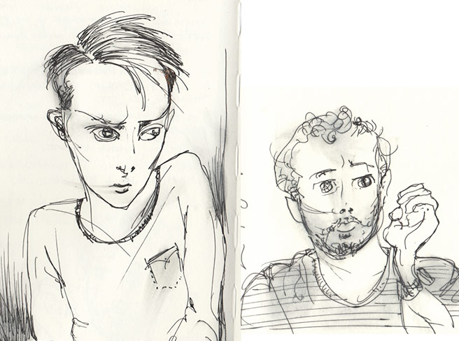 porttrait sketches