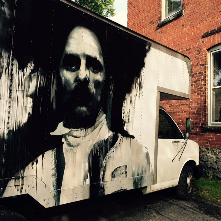 face painted on a truck