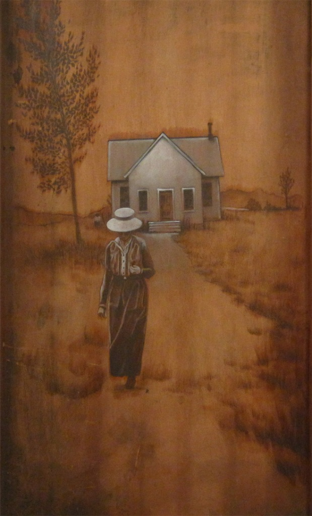The Leaving, pencil and oils on wood panel (2011)