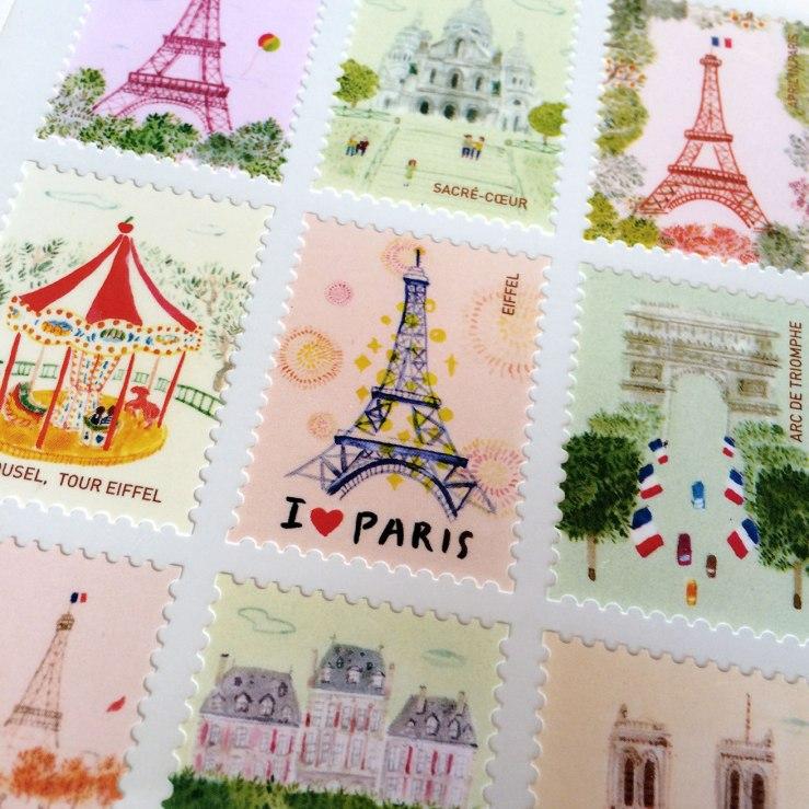 stamp stickers, Paris