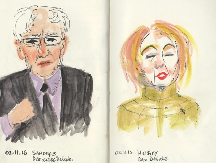 Democratic Debate; Sanders and Clinton