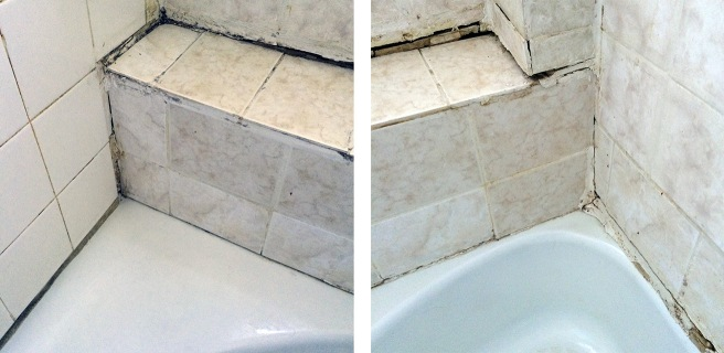 Swept pout the debris, scrubbed the tiles and grout.