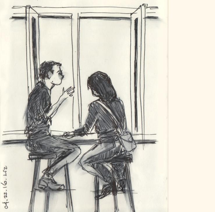an ink sketch from last week