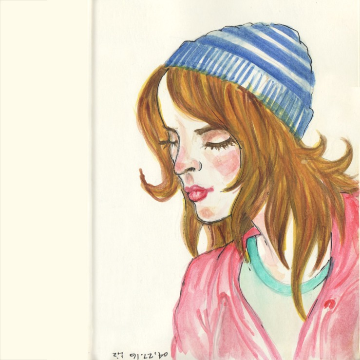 a watercolor sketch from the moleskine