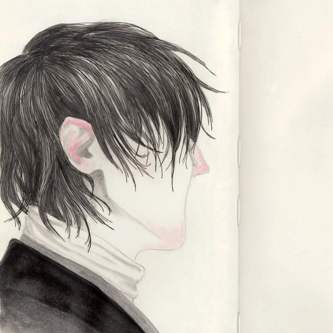 portrait in ink & watercolor (process)