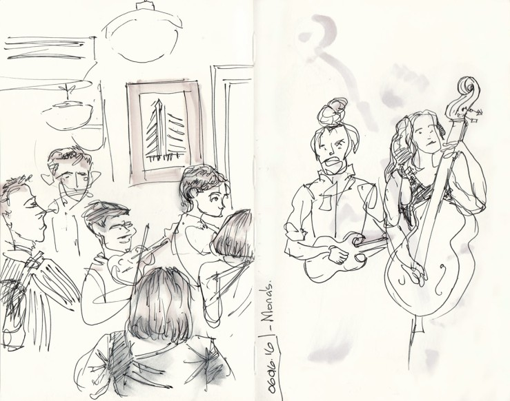 Bluegrass session at Mona's NYC