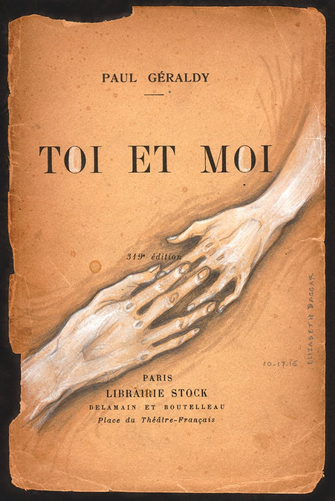 Toi et Moi, drawing on old book page