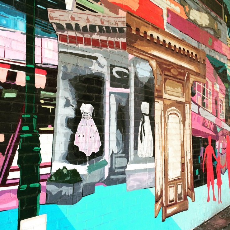 Portion of a mural on Atlantic Avenue, beneath the BQE overpass